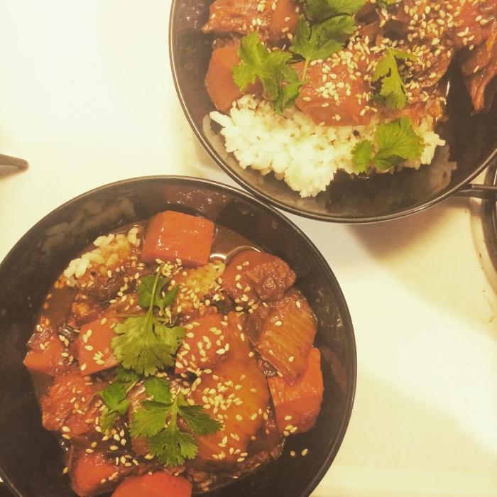 Kimchi & Winter Squash Stew